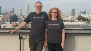 HackHunter founders Tracie Thompson and Mike Thompson on the AusTrade CyRise cyber security mission to Tel Aviv, Israel in 2018
